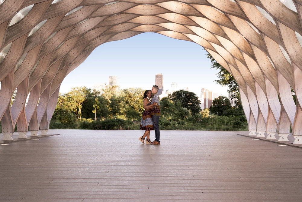 Honeycomb engagement photos in Chicago's Lincoln Park