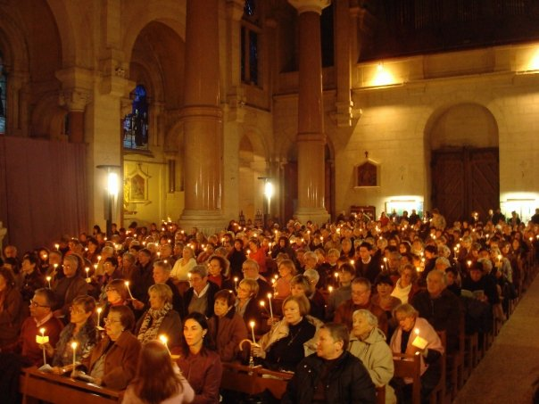 Christmas candlelight service in Aix en Provence