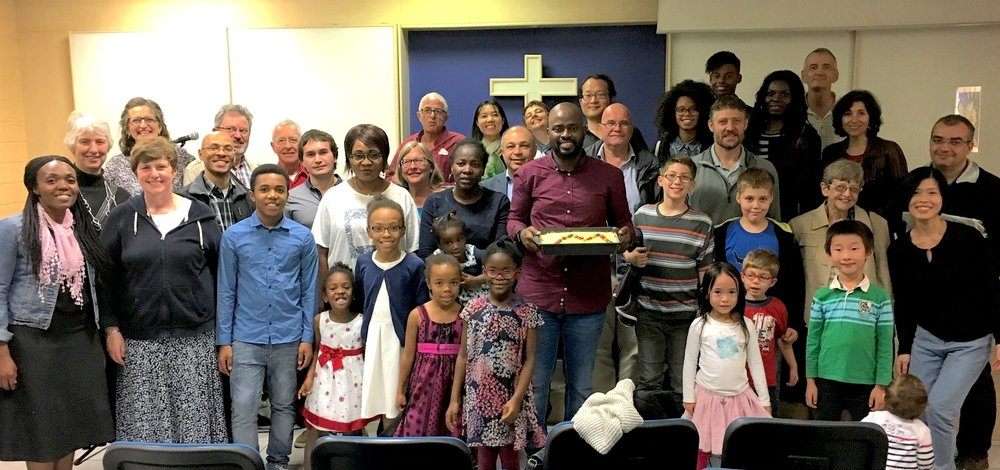 The congregation of the Painters' fourth European church plant, ICC Marseille, in Fall 2016