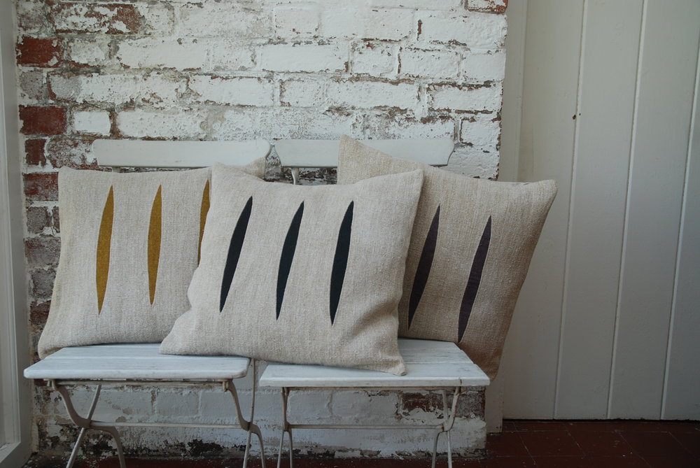 Linen and wool cushion