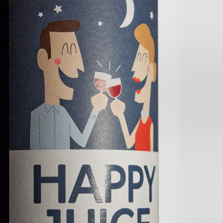 Happy Juice Wine Label Concept