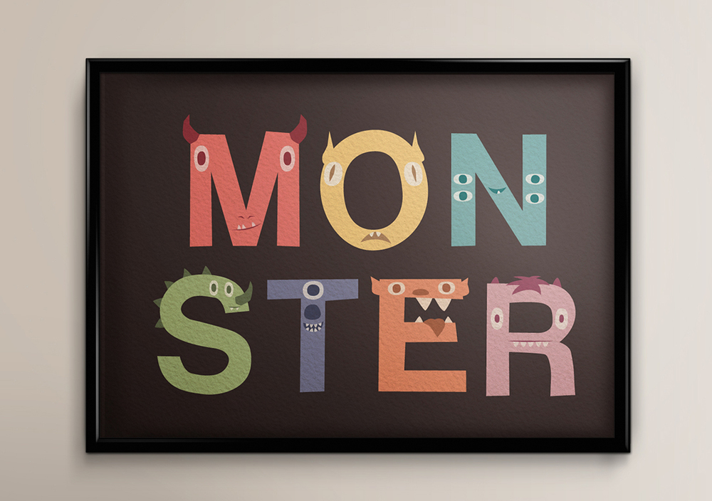 Monster Illustrative Typography