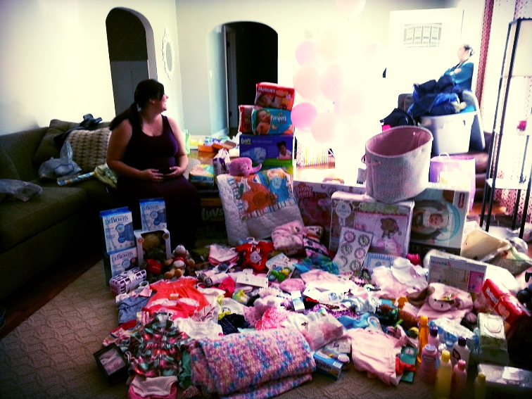 A friend's loot after her baby shower