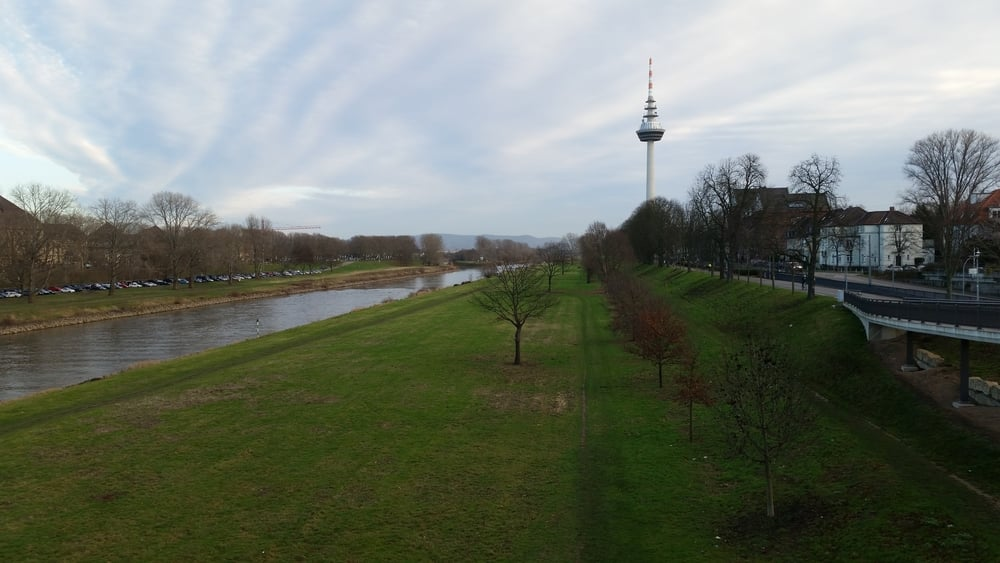 The Neckar and my new running path