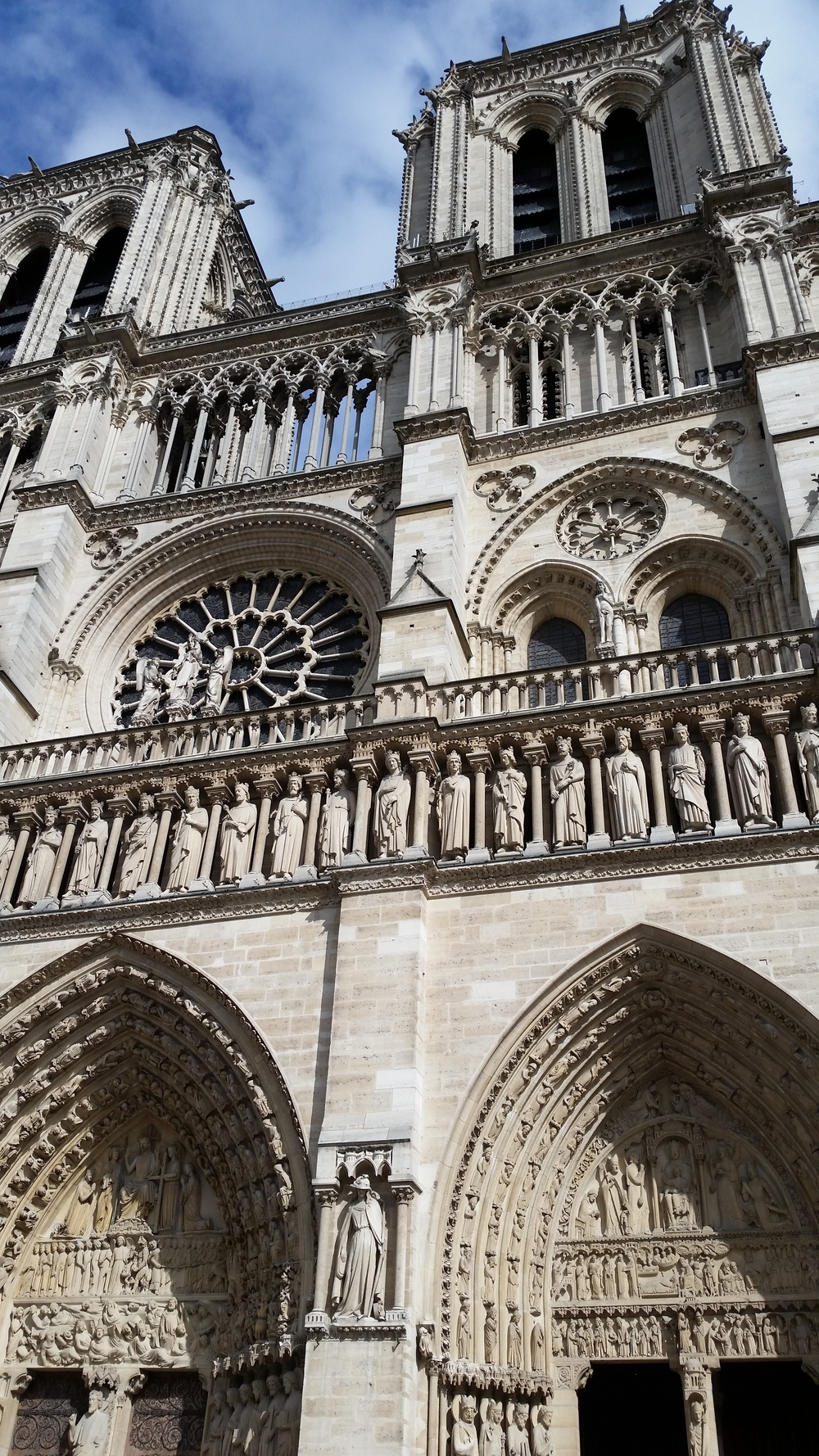 Entrance to the famous Notre Dame