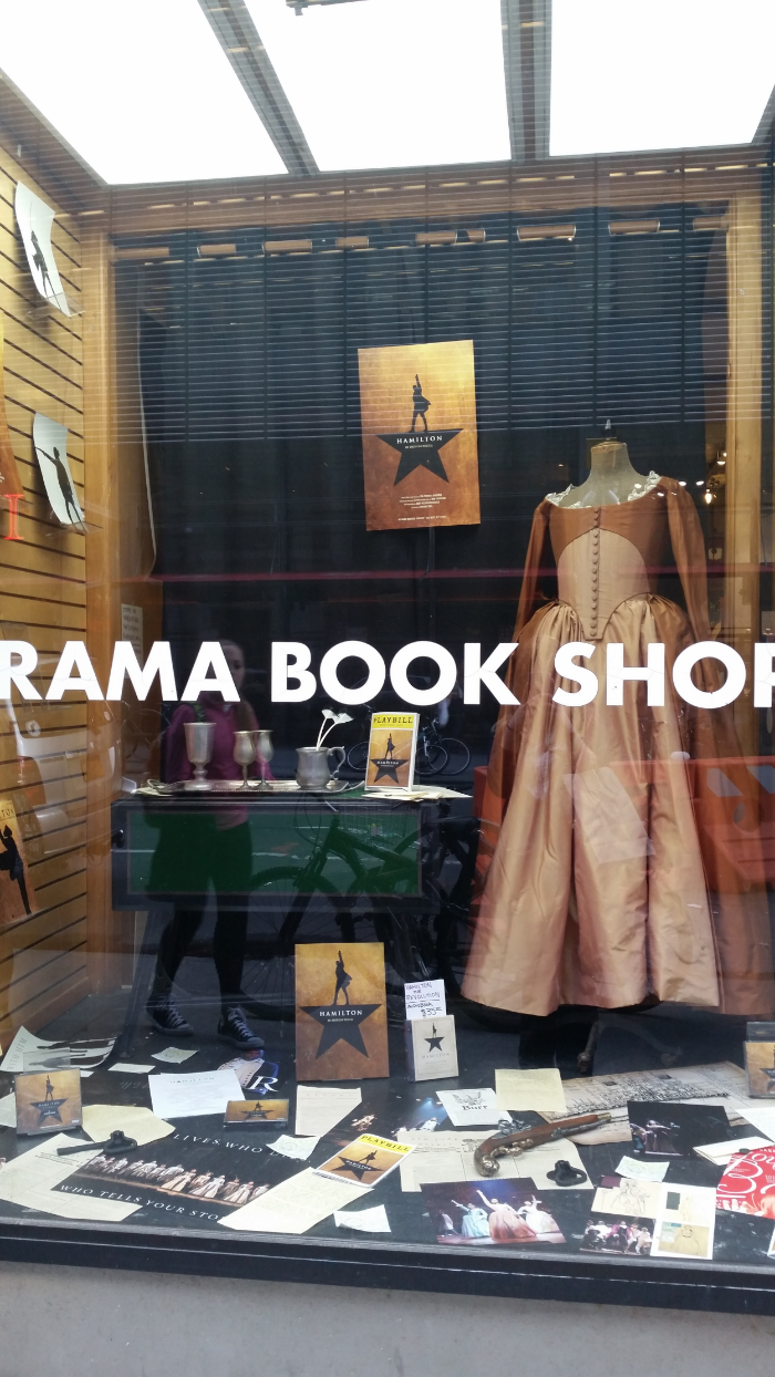 The display case at the Drama Book Shop, just a couple of blocks from the Richard Rodgers Theater.