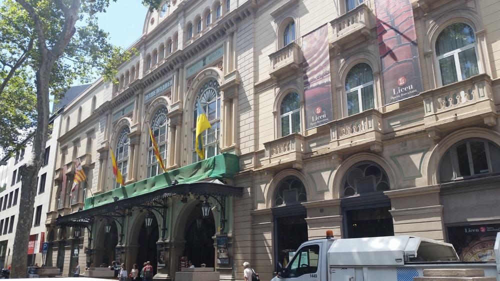 Liceu Theater, Barcelona's Opera house, also on La Rambla
