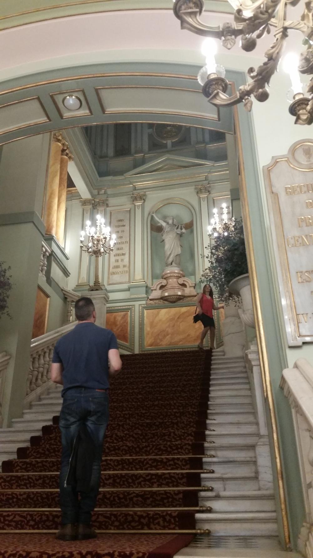 Inside the Opera house - fancy!