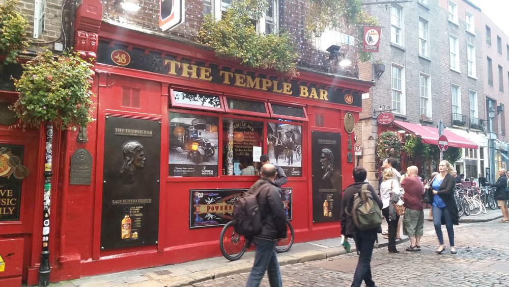 Temple Bar: the name of a Dublin city district and, you know, a bar.