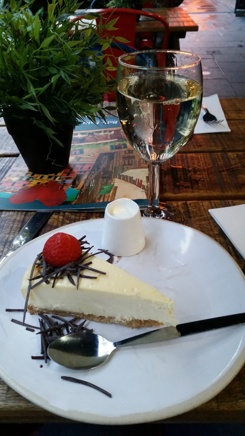 Real talk: this cheesecake I had at an Italian restaurant in London (Bella Italia, I think it's a local chain) was some of the best I've had. Look it up.