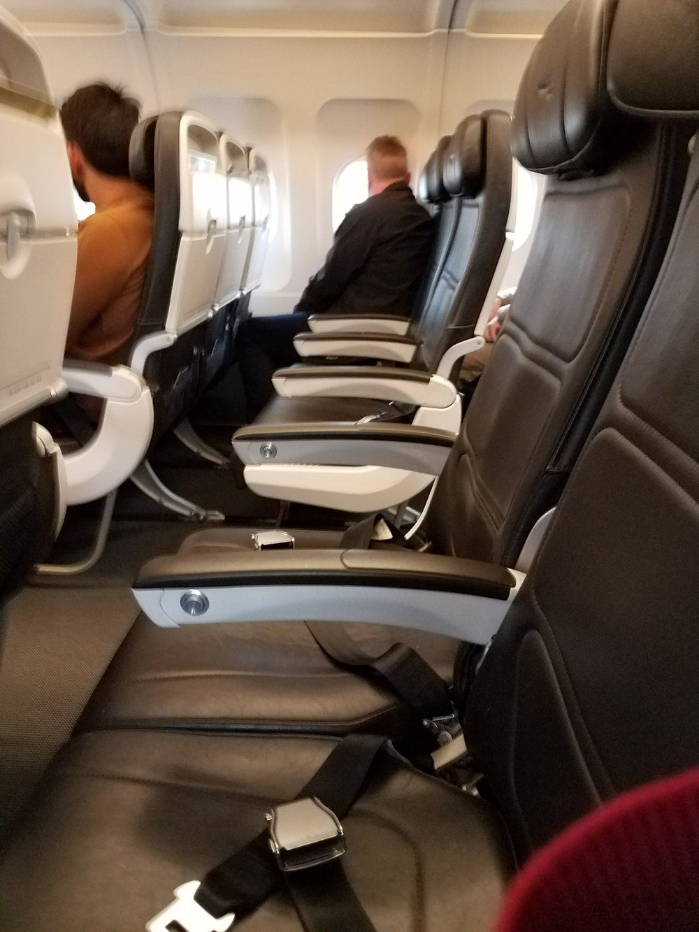 Travel Kismet: Mostly empty flight from London to Frankfurt this weekend.