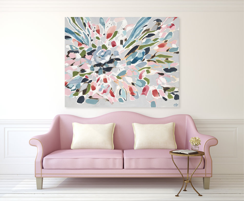 Bouquet 3 - This style is the most abstract out of the three. The painting will include the colors of your bouquet, but a more expressionist approach to painting your flowers.