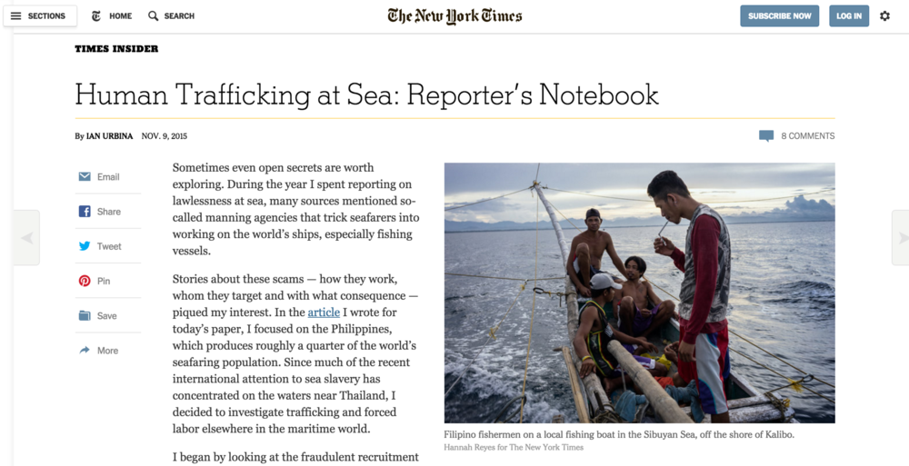 NY Times Reporter's Notebook