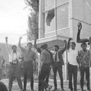 1970 - Students at Jackson State University, a famous HBCU, gather on Lynch street to express frustrations about issues facing the black community. Police respond, fighting begins to break out, and police open fire. 12 students are injured, and 2 murdered.
