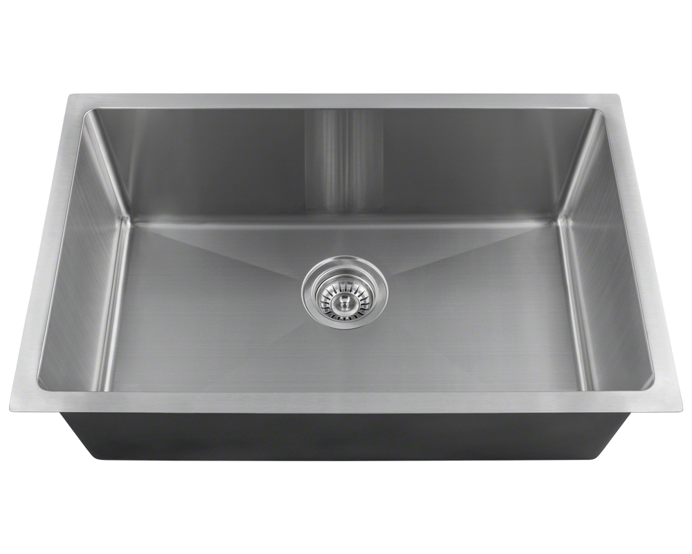 16 Gauge Stainless Steel Square Single Bowl Kitchen Sink (3/4\