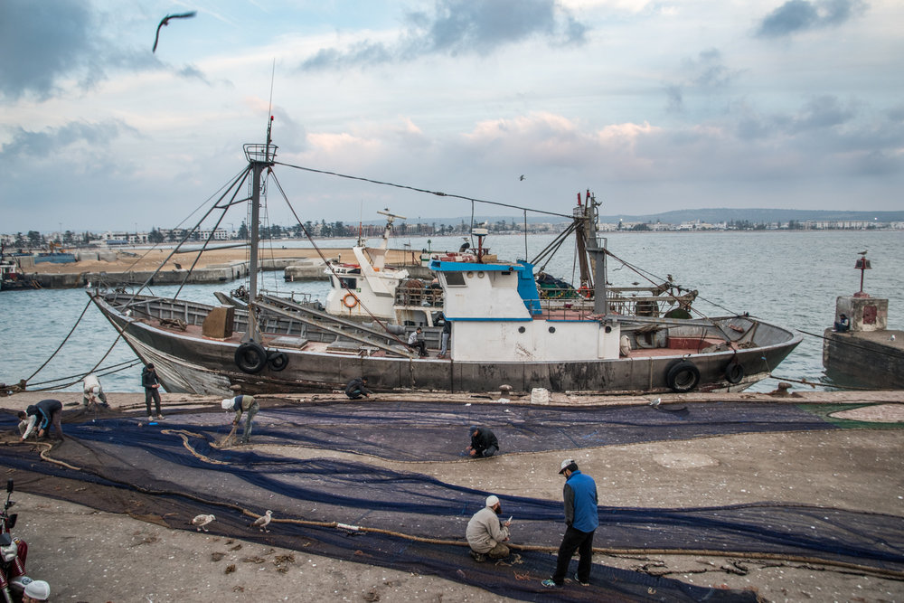 Net mending, Essaouira