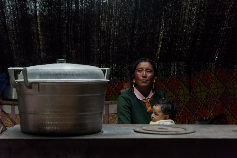 Nomadic mother and baby