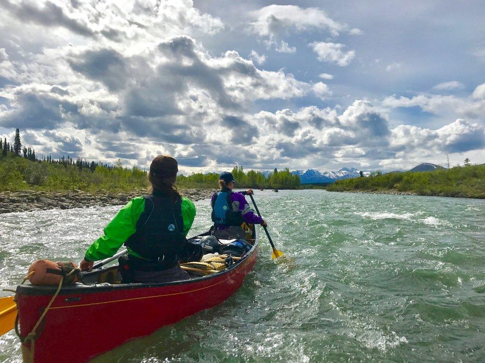 Paddling the upper Hess River. Photo: Emily Ledingham