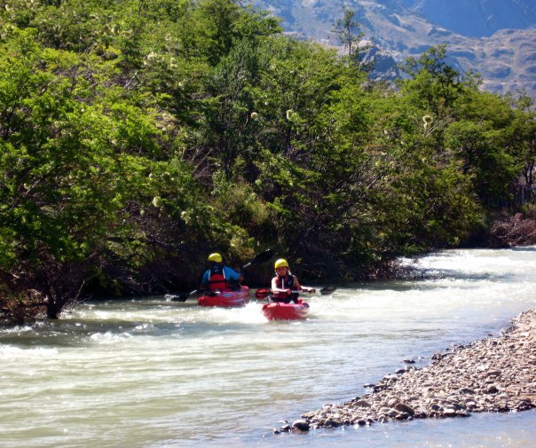 My first meeting with Kris Tompkins, a paddling outing on the Rio Chacabuco, through the center of Patagonia National Park. Lots of horseflies; lots of fun.