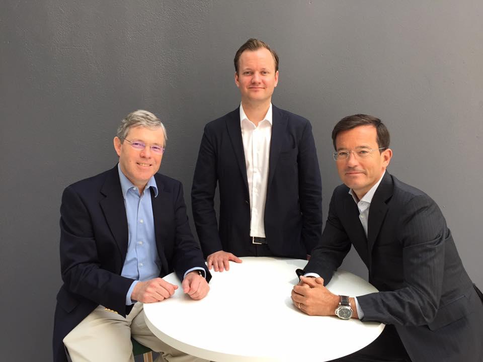 From left: Dr. Ray Burke, Øyvind Christensen, Trond Riiber Knudsen