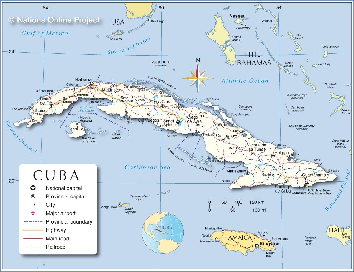 Us Cuba Trade And Economic Council Inc - Map-of-us-and-cuba