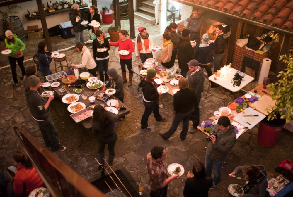 The first Eat Retreat, photographed by attendee  James Collier .