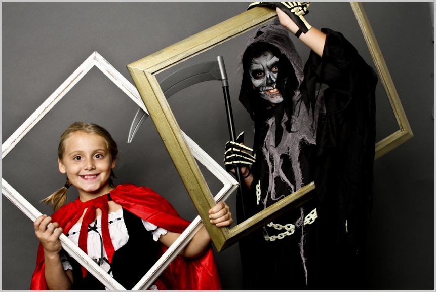 halloween party photo booth