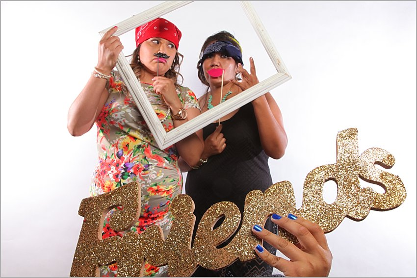 encanterra country club wedding photo booth