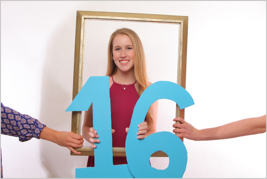 16th birthday photo booth