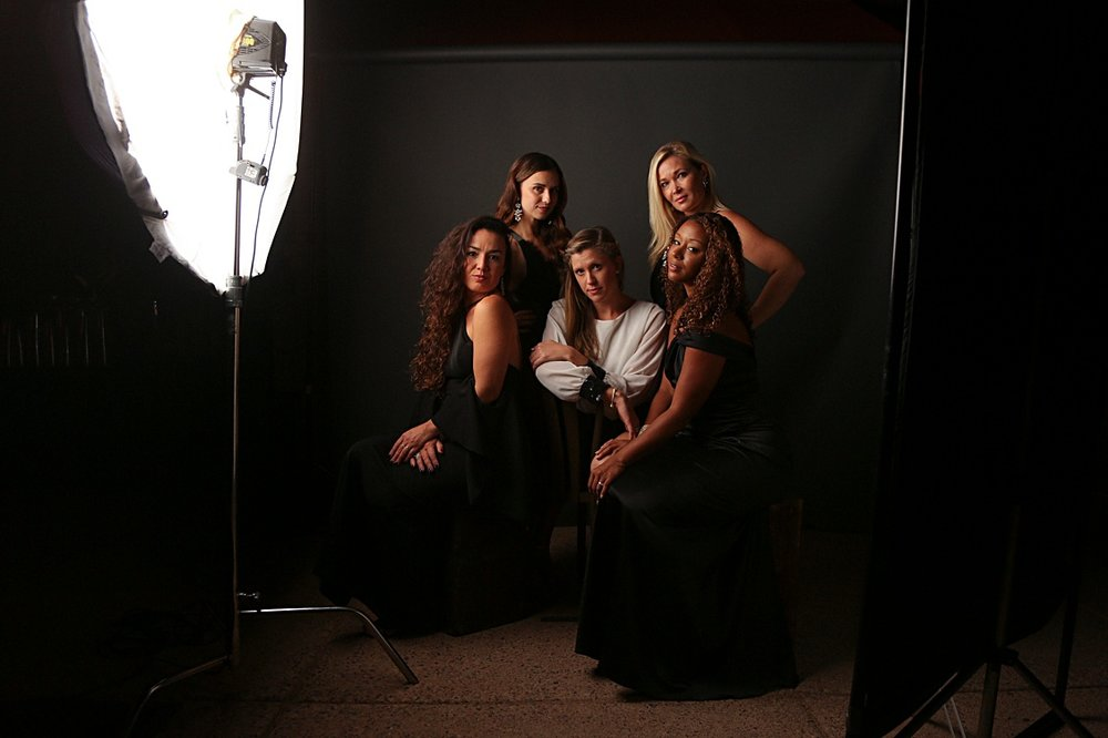 - What does our portrait station set up look like?a photo set with a backdrop + a real photographer