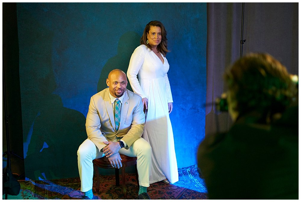 A little #bts of Keith photographing Lorenzo Alexander and his beautiful wife Manjanique