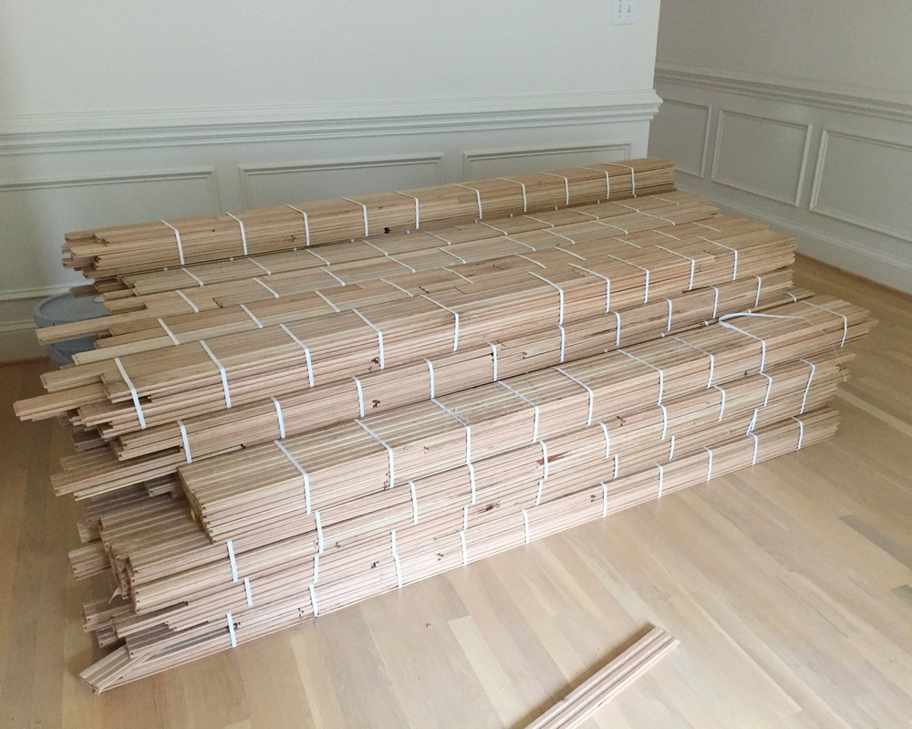 Delivery of the hardwood floors.