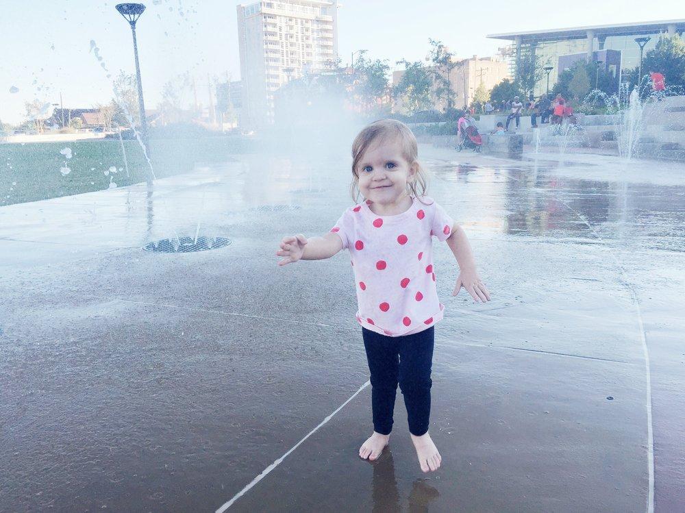 Happiest child in Charlotte. |  First Ward Park