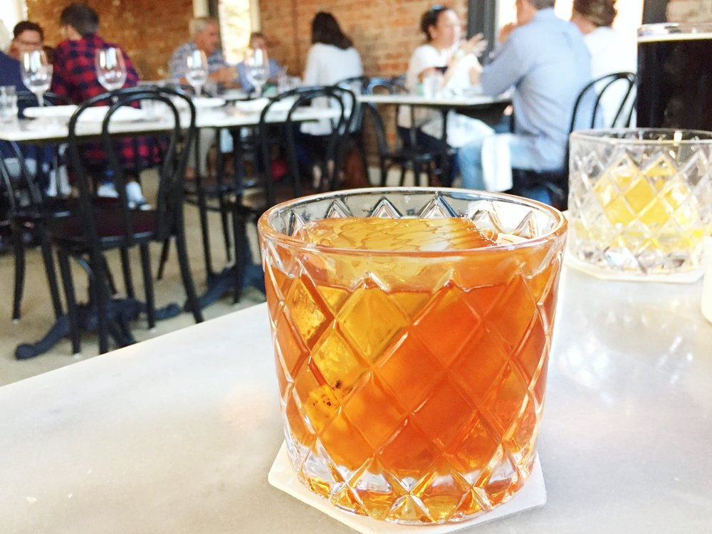 The Rambler: Cognac, Rye, Benedictine, Vanilla, Bitters. | Kindred