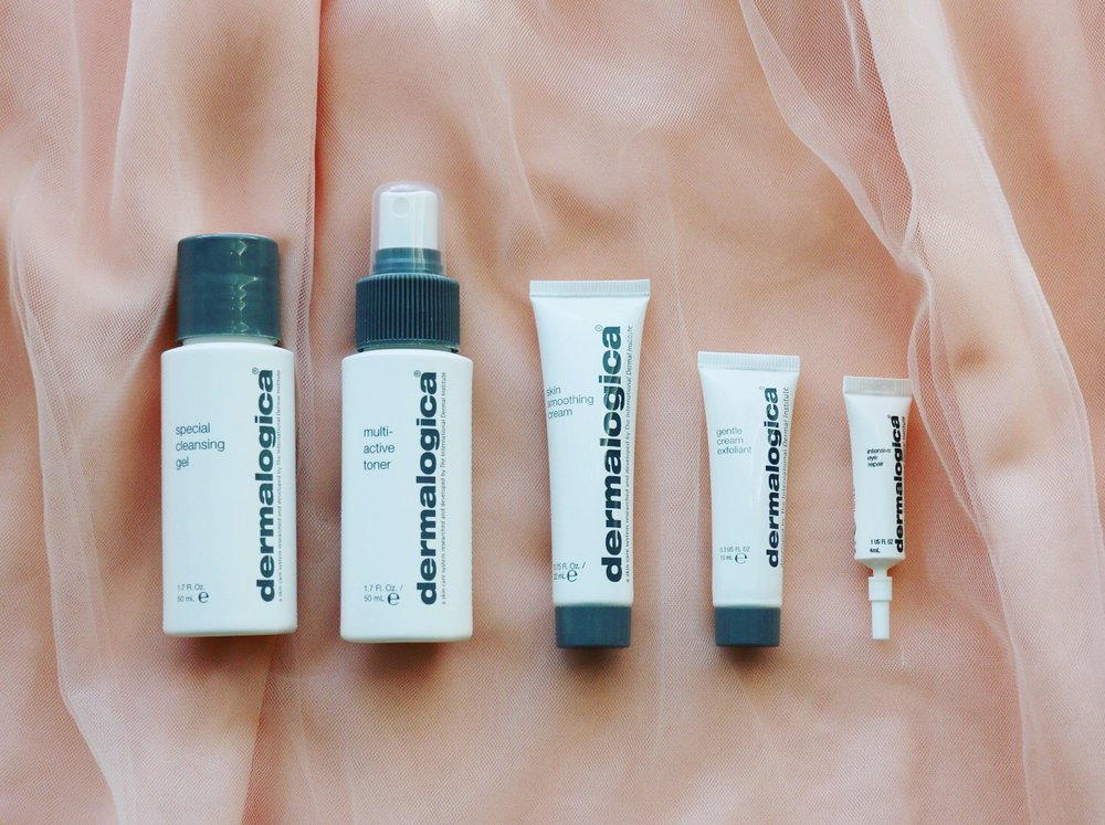 dermalogica skincare set for normal to dry skin.