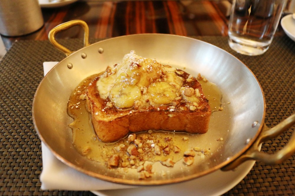Bananas Foster Brioche French Toast