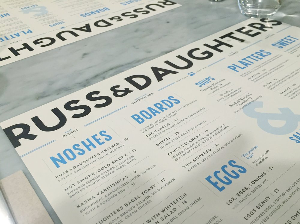 Menu | Russ & Daughters Cafe