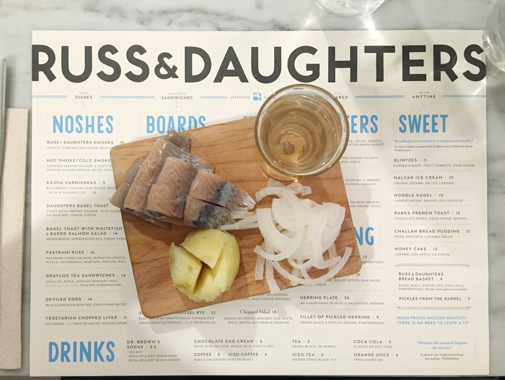 Schmaltz & A Shot | Russ & Daughters Cafe