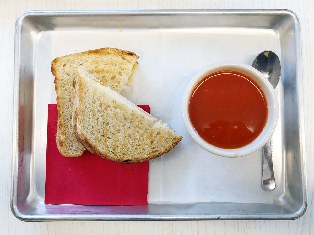 sunflour-bakery-harrisburg-nc-grilled-cheese-spicy-tomato-soup-lunch