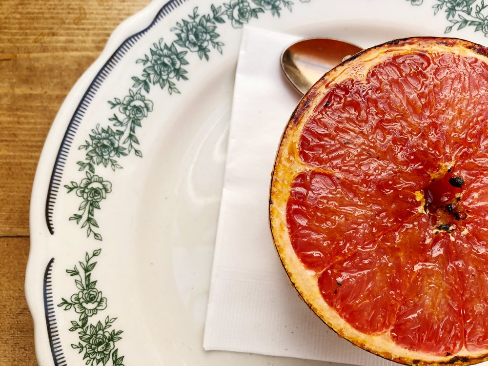 Daily Fruit: Bruleed Grapefruit with PInk Himalayan Salt