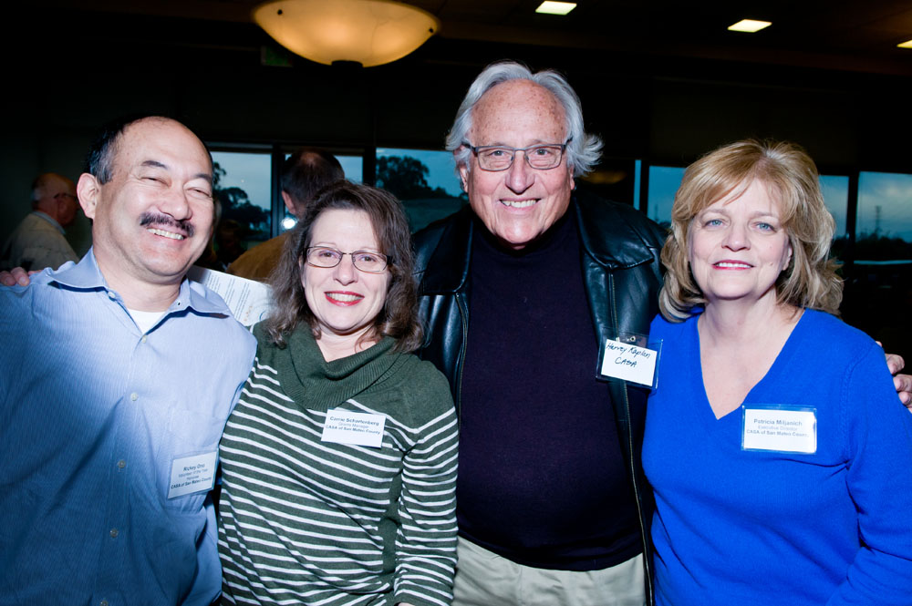 CASA of San Mateo County Representatives pictured, left to right: Ricky Ono, CASA Volunteer; Carrie Schartenberg, Grants Manager; Harvey S. Kaplan, M.D., Board Member; and Patricia Miljanich, Executive Director.