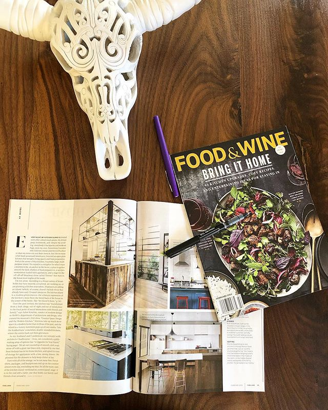 Looking for some Monday motivation? @foodandwine has you covered with some amazing recipes, kitchen upgrade ideas, and a closer look at our Clark project's kitchen! Thank you for this tasty feature 😋