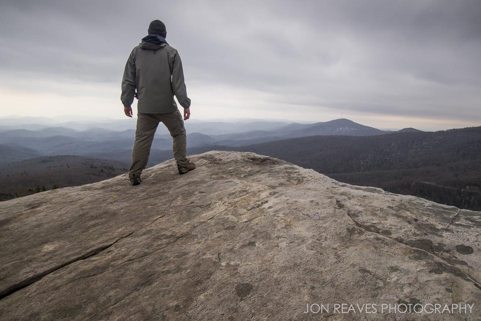 Standing on the edge of Rough Ridge, Blue Ridge Parkway, NC. Nikon D600, Nikkor 18-35G.