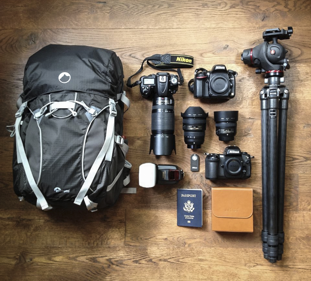 Some of my essential gear for travel and nature photography.