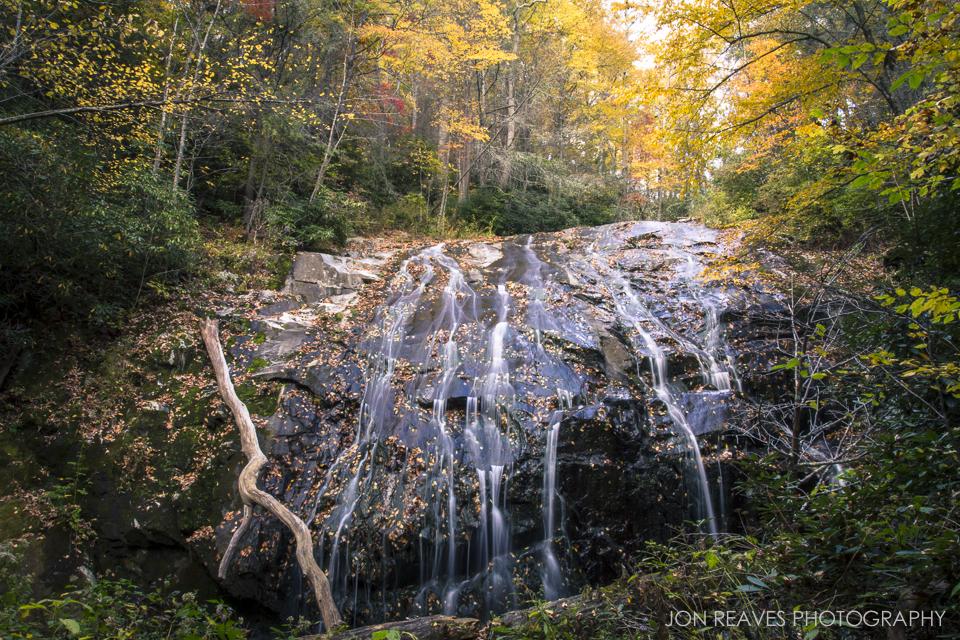 Glen Burney Falls in Autumn, Blowing Rock, North Carolina.