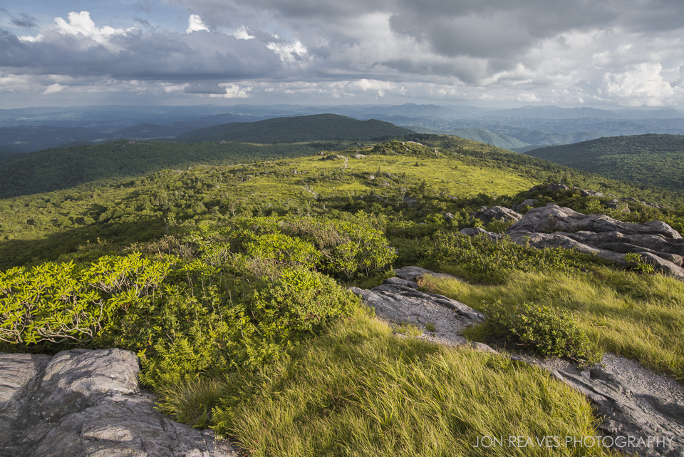 View of Grayson Highlands State Park, Virginia from the Appalachian Trail.