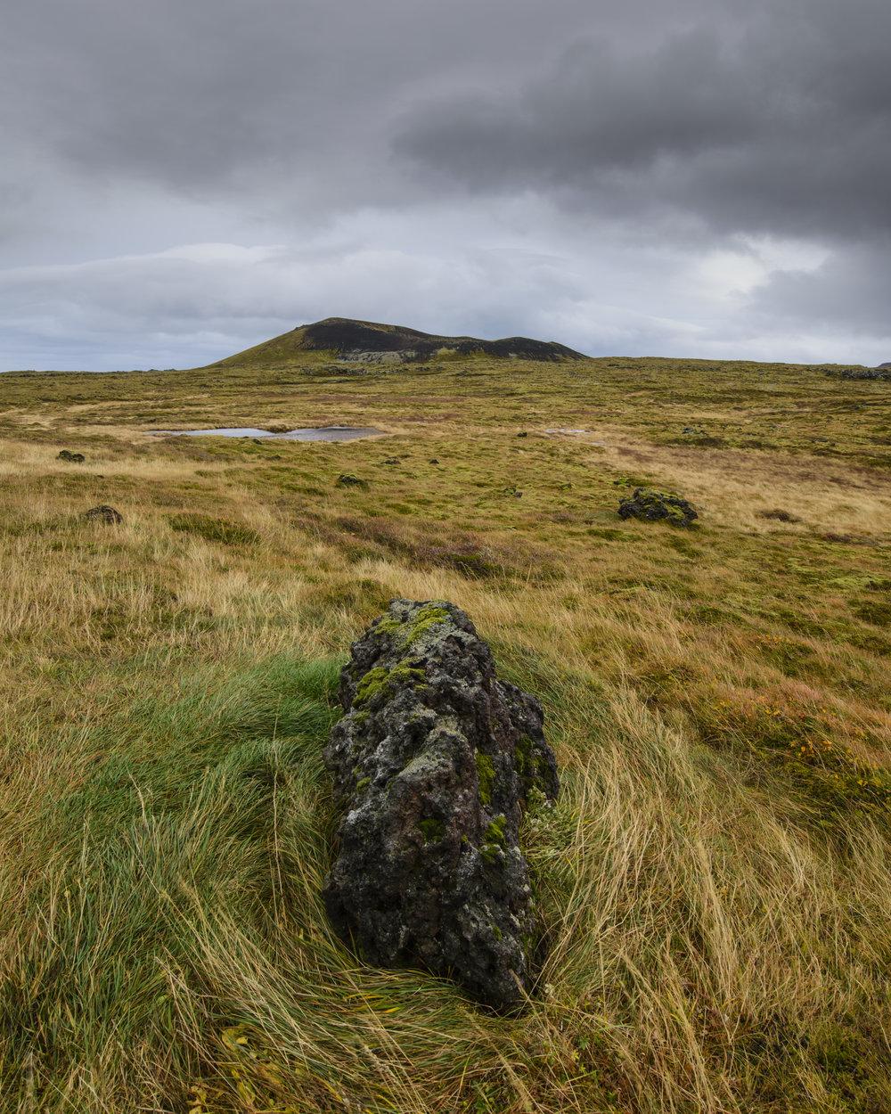 Grass covered lava field, Snaefellsness Peninsula