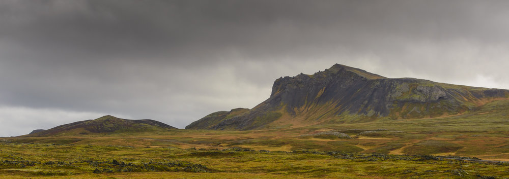 Moss covered moutains, Snaefellsness Peninsula