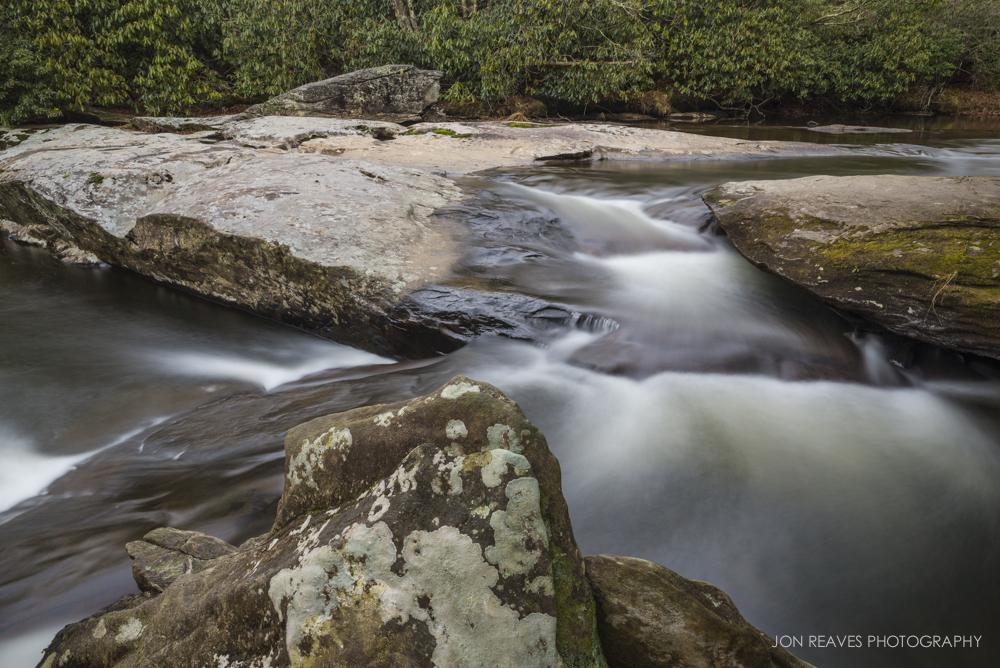 Unnamed Waterfall near Julian Price Park, Blue Ridge Parkway, North Carolina