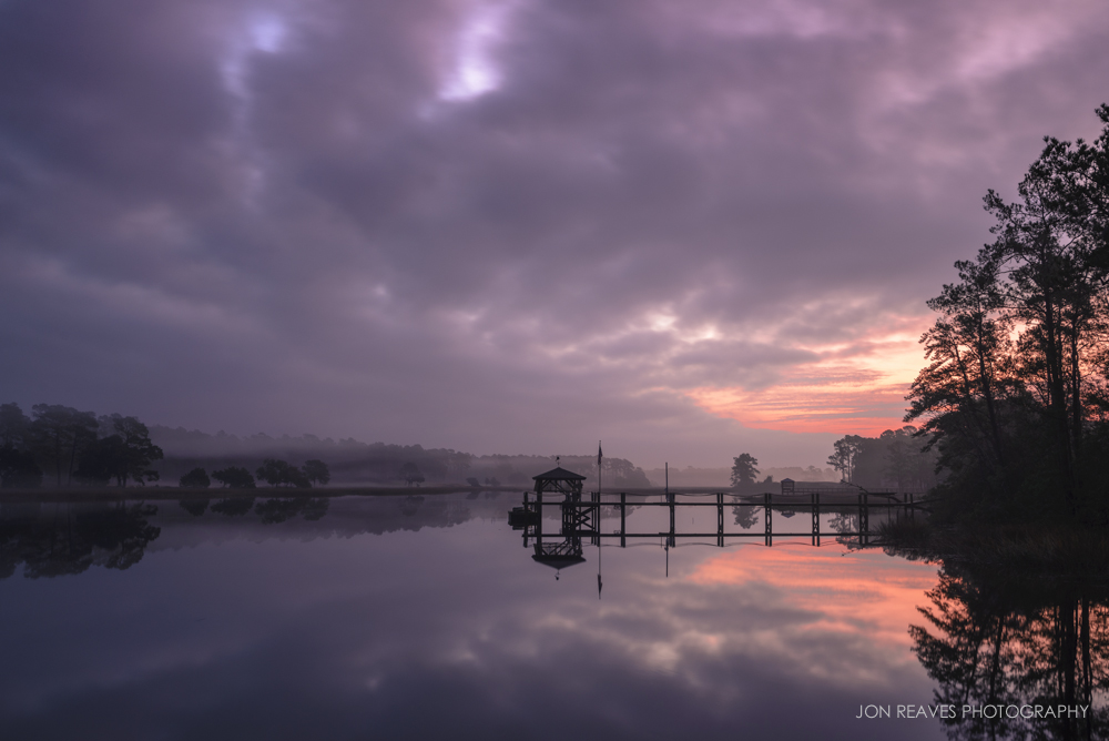 Sunrise over the Intracoastal Waterway near Calabash, North Carolina
